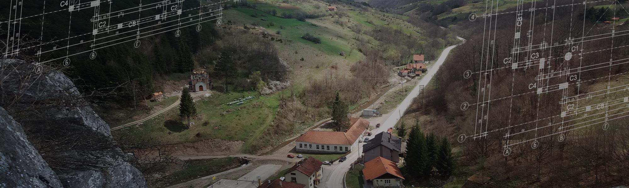 Pogled sa Baltića stene - Močioci - Hram Sveta Petka